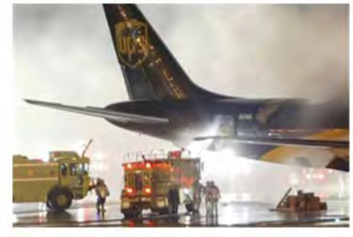 fires in planes due to batteries