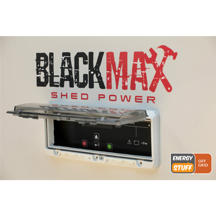 BlackMax Shed Power KitE- 12.4kWh storage (10kWh usable)