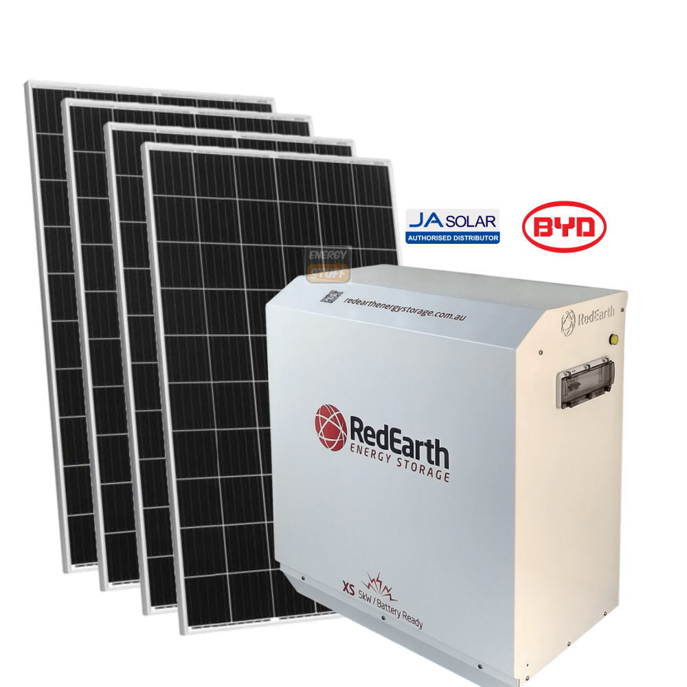 6.3kW JASolar Mono & RedEarth Sunrise (5kWh BYD Battery) - QLD - Energy Stuff
