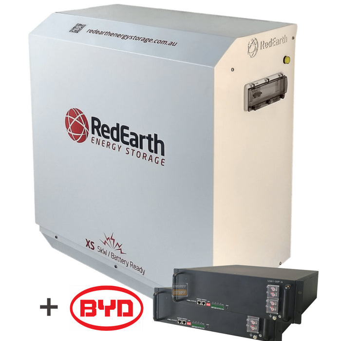 RedEarth Sunrise / Sungrow 5kW Hybrid - with 7.5kWh BYD Rack Battery - Energy Stuff