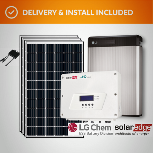 Solar Edge Pack (6.0kW) with LG Chem Battery Complete Solar System