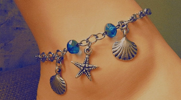 beach themed anklets