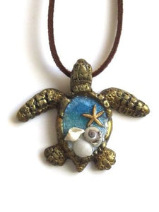 Sea Turtle Necklace Gold