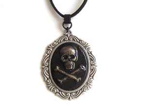 Silver And Black Pirate Necklace