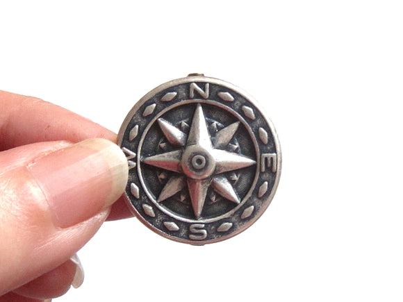 Compass Brooch