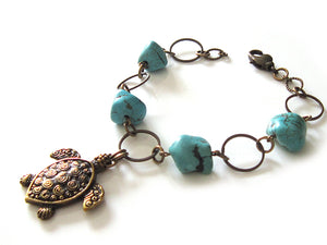 Chunky Sea Turtle Bracelet