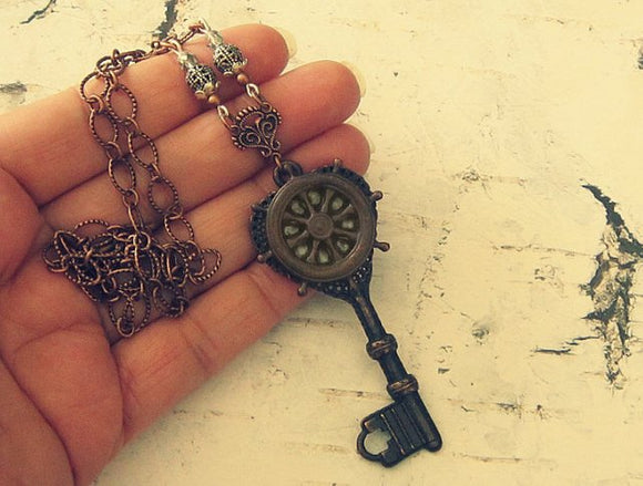 Ship Wheel Necklace