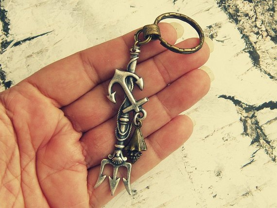 merman keychain