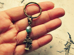 Palm Tree Keychain