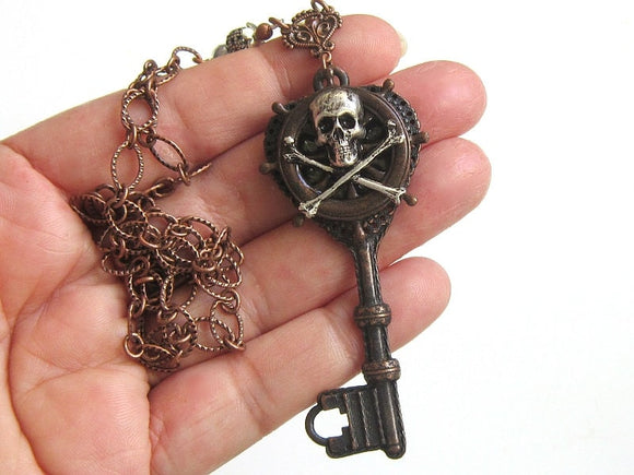 pirate skeleton key necklace
