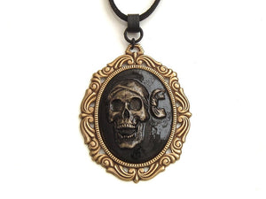 pirate skull themed necklace