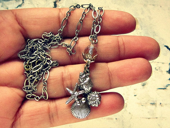 Silver Marine Life Necklace