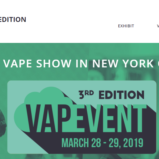 New York Vapevent, Brooklyn Expo, March 28th & 29th 2019