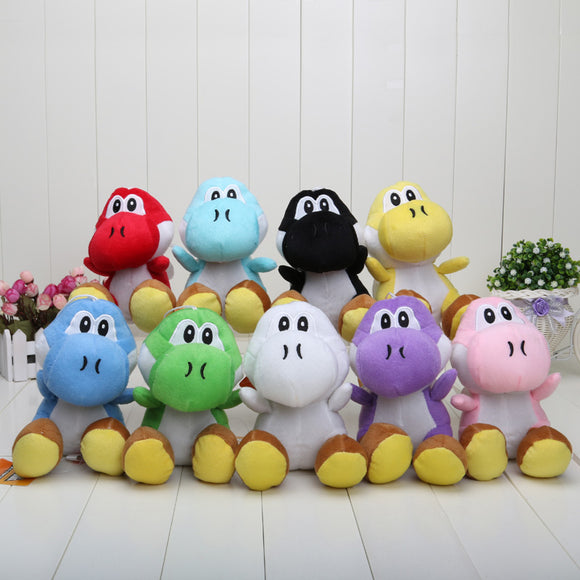 Yoshi from Super Mario Bros Plush Stuffed toys (17CM tall, different colors available)
