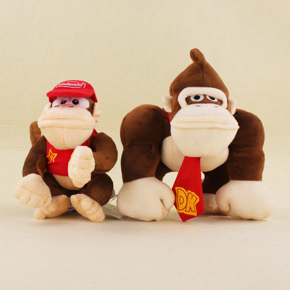 14cm 20cm Donkey Kong And Diddy Kong Soft Stuffed Plush Toys
