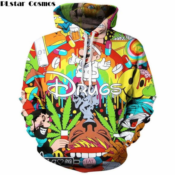 Super Mario 3D print Hoodie Colorful Sweatshirt - drugs