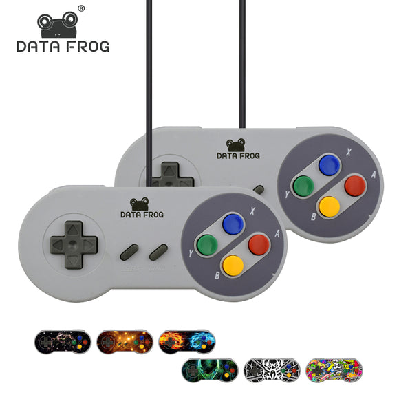 2x Retro Super Nintendo (SNES) USB Controller for PC for MAC w/ bonus stickers