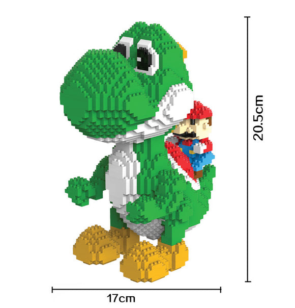 2276 Piece Yoshi Magic Blocks! Build a Super Mario friend today!