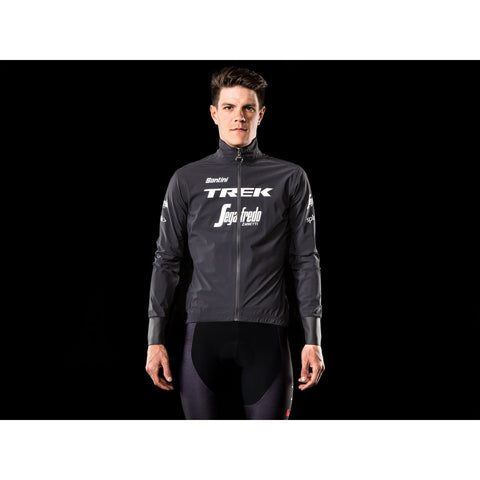 Santini Trek-Segafredo Men's Team Packable Waterproof Cyclin