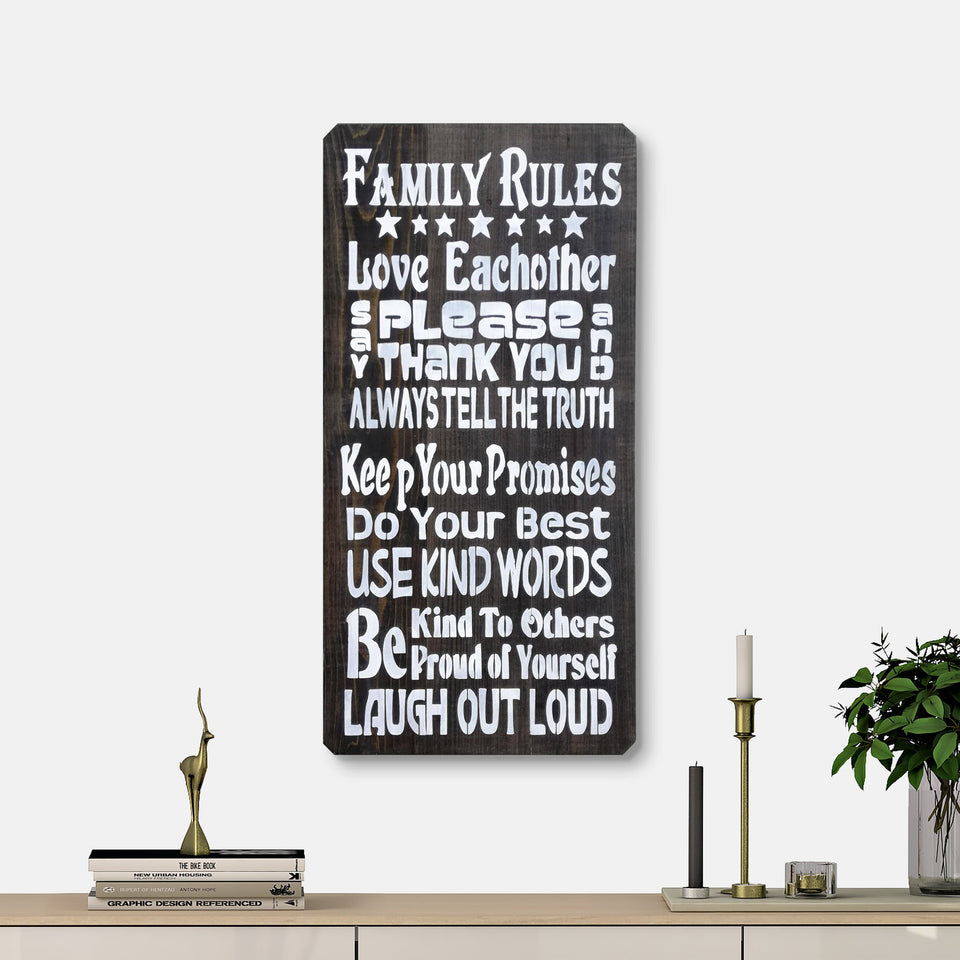 WoodMotto - Family Rules