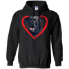Image of Kids Labrador Heart Shirt Black