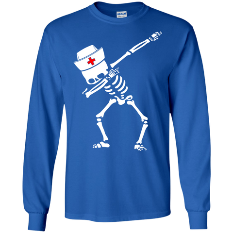 Dabbing skeleton Nurse Halloween Heather T shirt