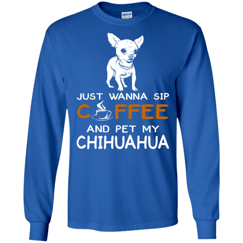 Womens Wanna Coffee Chihuahua T Shirt