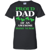 Image of Awesome Irish Nurse Funny Shamrock T shirt