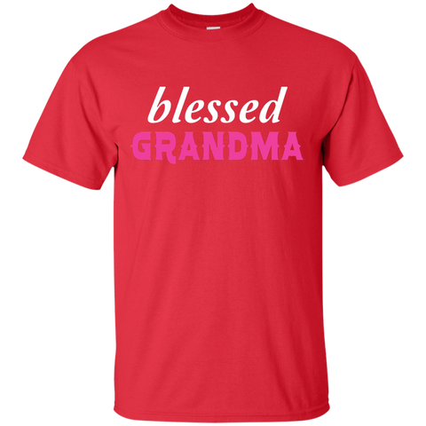 Blessed Grandma Family T Shirt Heather
