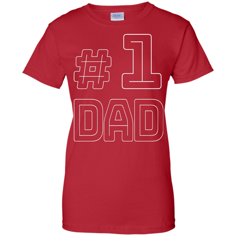 Dad Number One Fathers Vintage T shirt