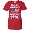 Image of America Birthday Gifts T Shirt Asphalt