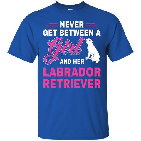 Never between labrador retriever T Shirt