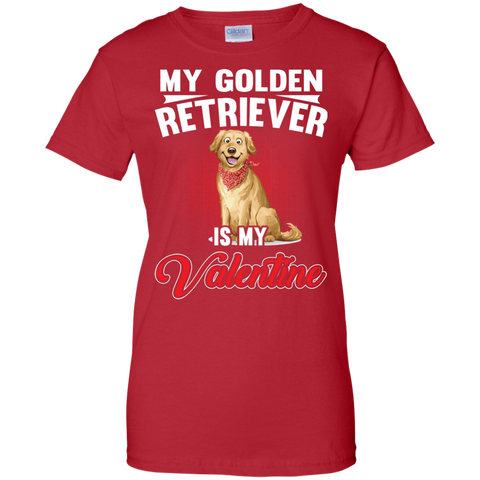 Golden Retriever Is My Valentine Single Person Novelty T shirt