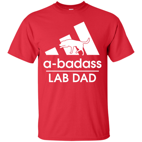Labrador Retriever T Shirt Badass Men