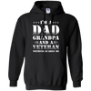 Image of grandpa veteran nothing T shirt Heather