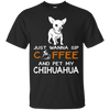 Image of Womens Wanna Coffee Chihuahua T Shirt