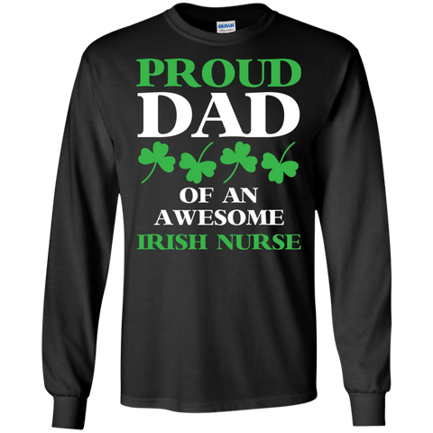 Awesome Irish Nurse Funny Shamrock T shirt
