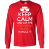 Image of Keep Calm Psychiatric Nurse Handle T shirt