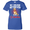 Image of Golden Retriever Is My Valentine Single Person Novelty T shirt