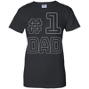 Image of Dad Number One Fathers Vintage T shirt