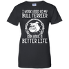 Image of Bull Terrier T Shirt Funny Puppy Heather