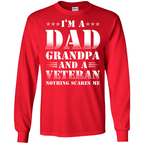 grandpa veteran nothing T shirt Heather