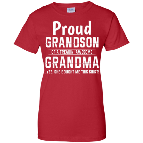 Grandson freakin awesome grandma Purple T shirt