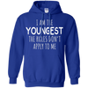 Image of Am Youngest Rules Apply Shirt - family reunion tshirts