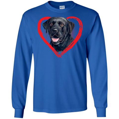 Kids Labrador Heart Shirt Black