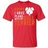 Image of Bull Terrier Funny Dog Heather T shirt