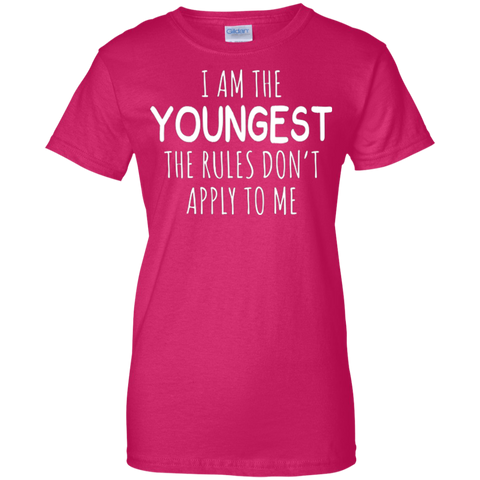 Am Youngest Rules Apply Shirt - family reunion tshirts