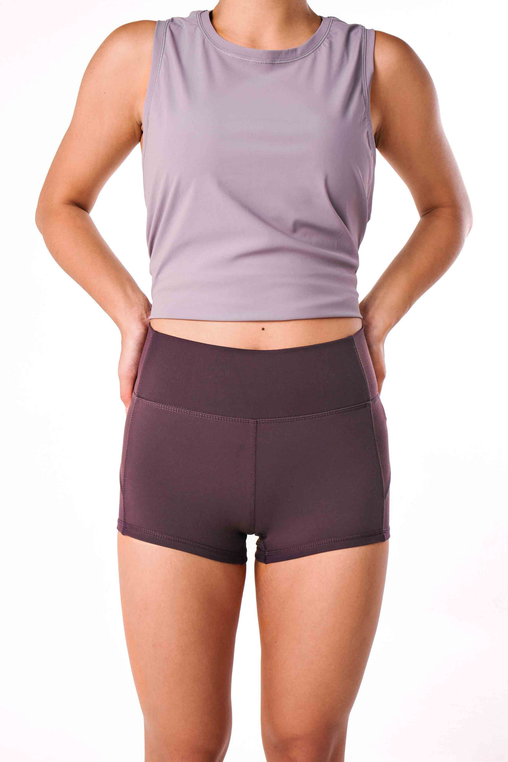 FLEX SHORTS - TWILIGHT MAUVE
