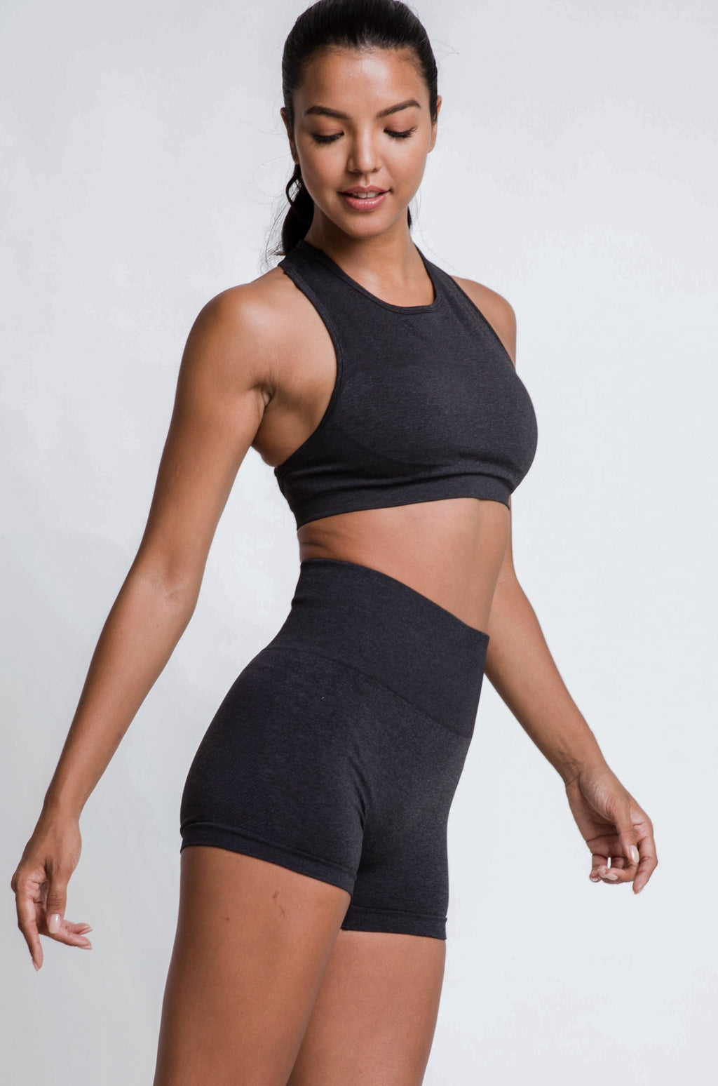 IMPULSE SPORTS BRA - BLACK LICORICE