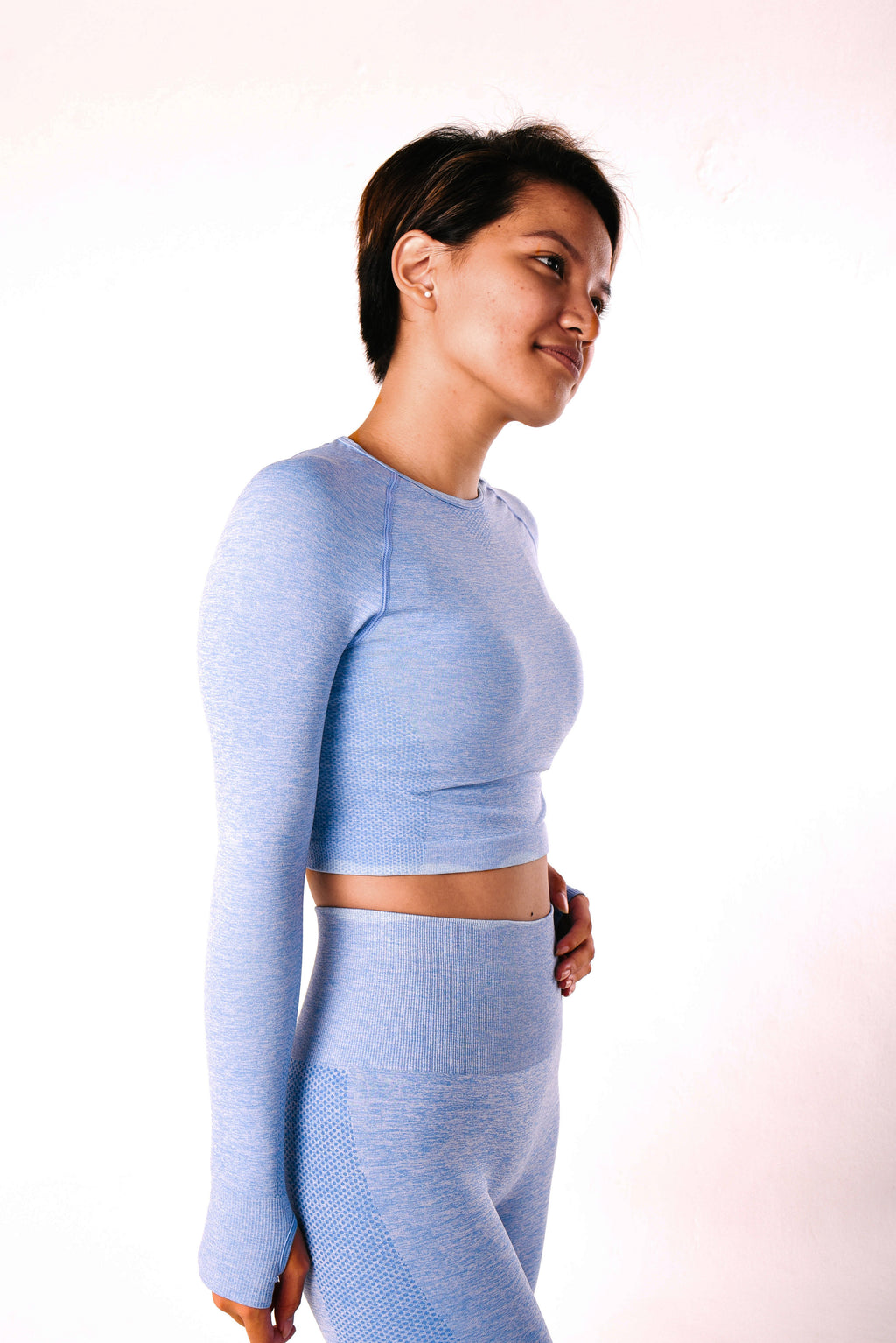 IMPULSE CROP TOP - ARCTIC BLUE